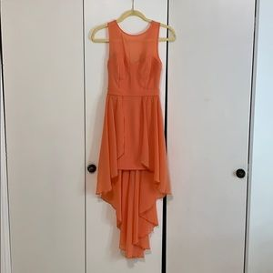 BEBE summer cocktail dress orange size 2